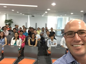 My Selfie with the QASymphony team in Vietnam.
